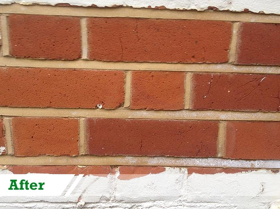 Paint removal and weatherstuck testing panel done by UK Performance Restoration, London UK.