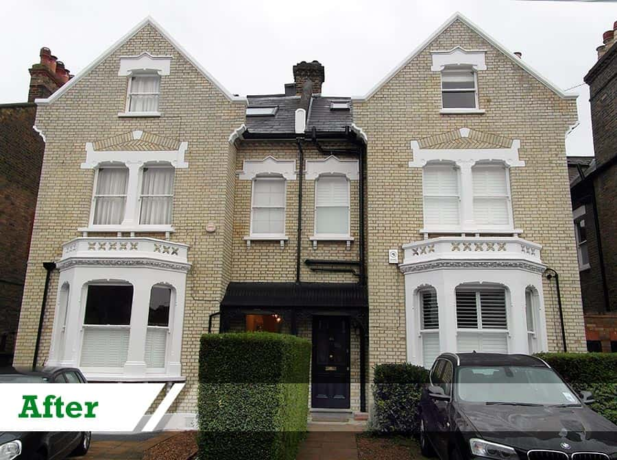 Brick cleaning and full restoration job for residential customer in Penge completed by UK Performance Restoration.