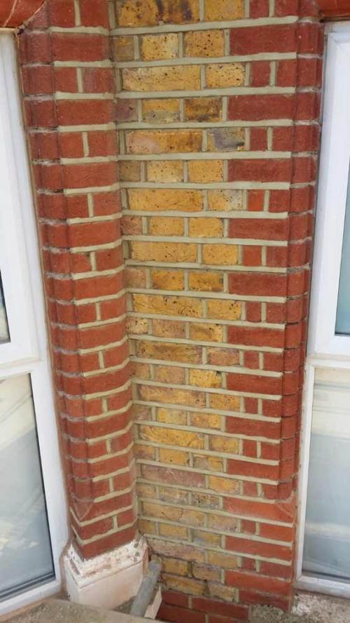 Weather struck pointing and brick cleaning
