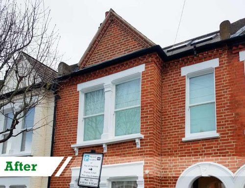 Paint removal and brick repointing